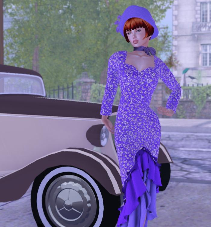 lotd- violet 1920s dress