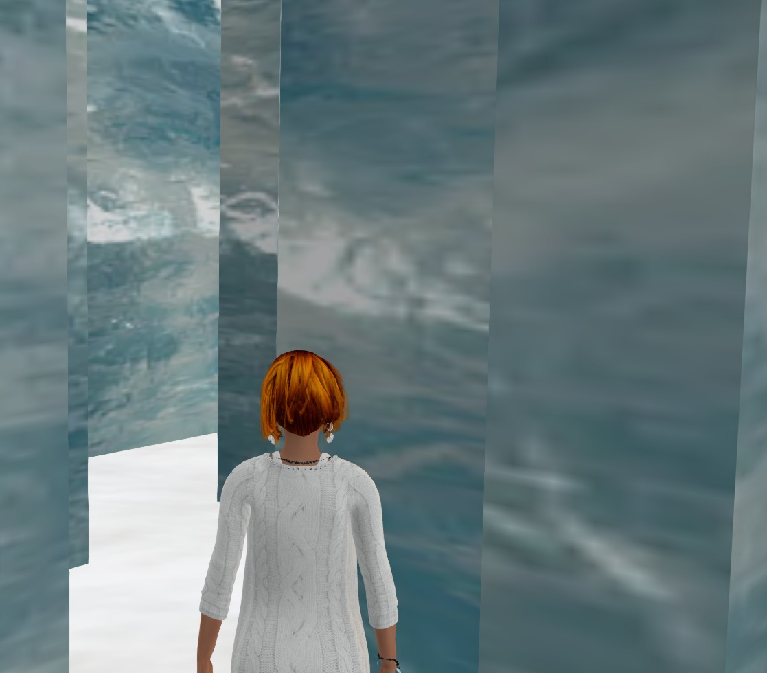 Blue lost in the ice maze