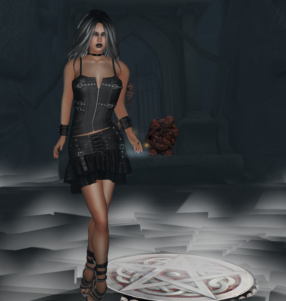 leather gothic outfit