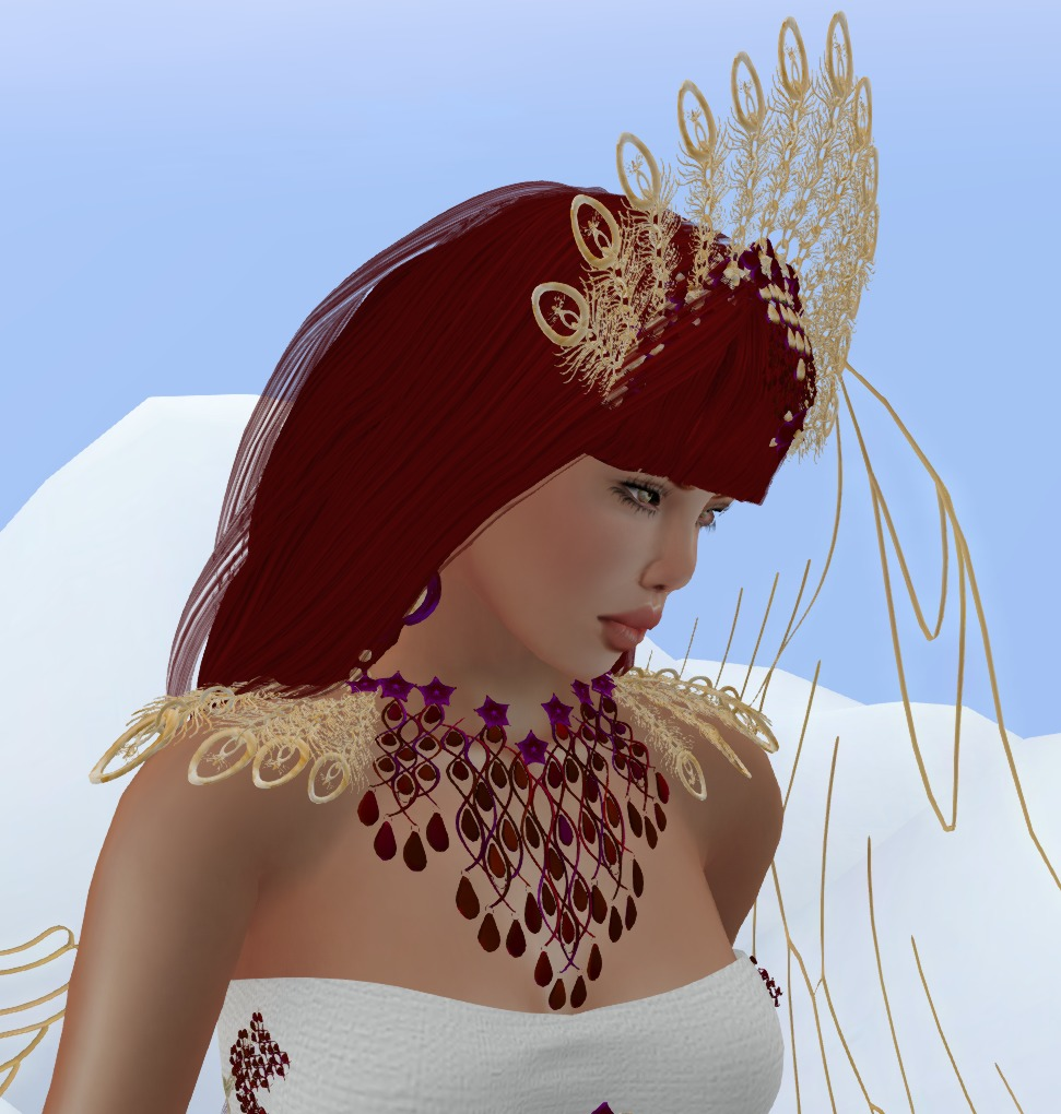ALB Christmas Angel gown detail