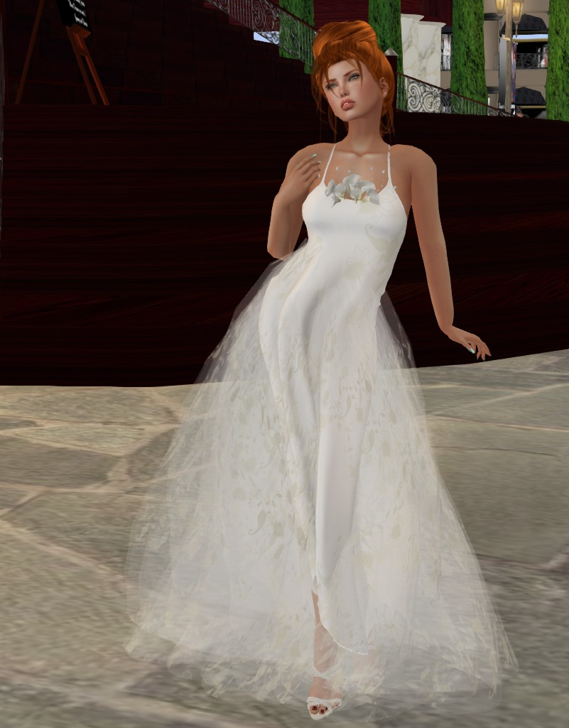 Arum Lilies gown by Snowpaws