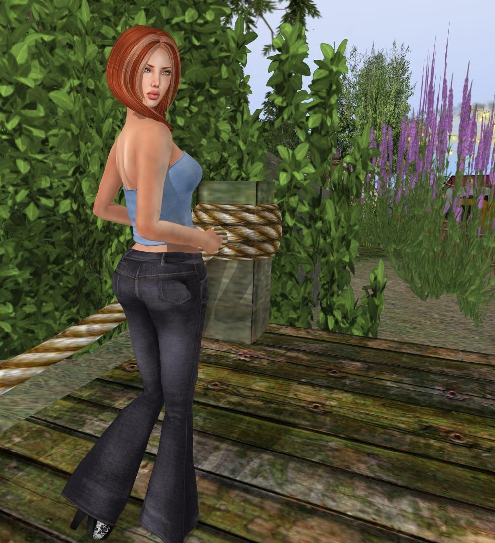 black jeans blue top_003
